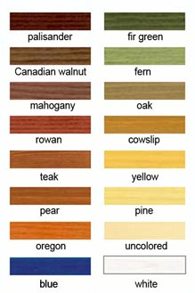 wood varnish colors